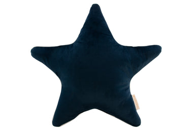 Nobodinoz Nobodinoz Aristote Star Velvet Cushion - Night Blue - Pearls & Swines