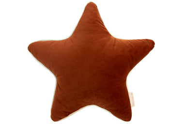 Nobodinoz Nobodinoz Aristote Star Velvet Cushion - Wild Brown - Pearls & Swines
