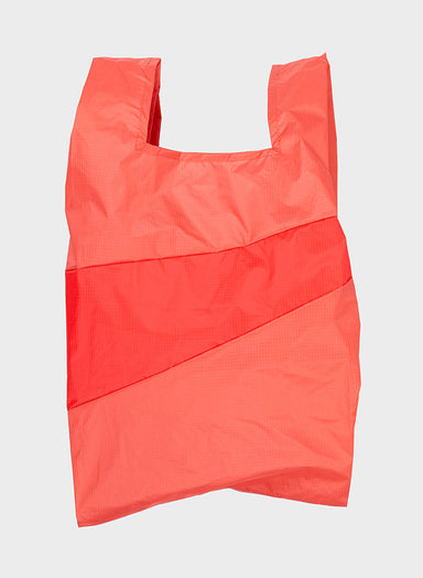 Susan Bijl Susan Bijl Shopping Bag - Salmon & Red Alert, L - Pearls & Swines