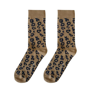 Maed for mini Maed for Mini Brown Leopard / Mama Socks - Pearls & Swines