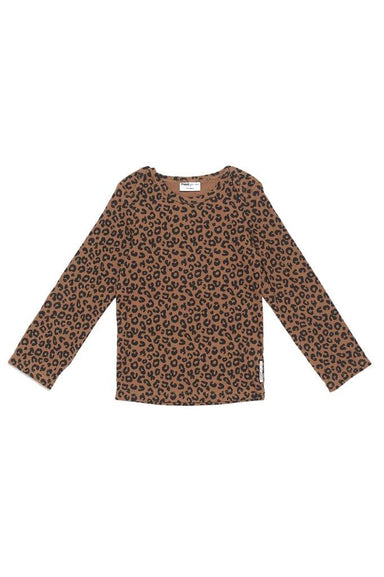 Maed for mini Maed for Mini Chocolate Leopard AOP LS Shirt - Pearls & Swines