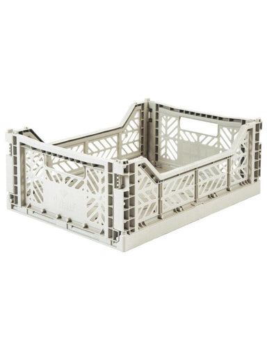Aykasa folding crates Aykasa Folding Crate MIDI - Light Grey - Pearls & Swines