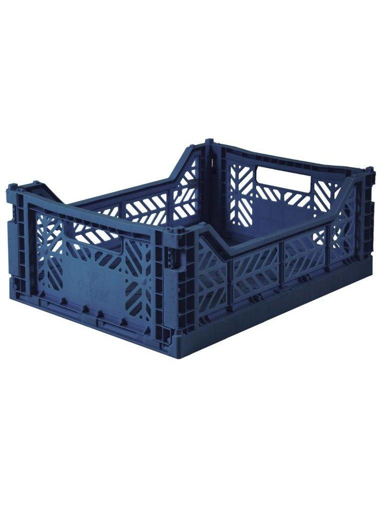 Aykasa folding crates Aykasa Folding Crate MIDI - Navy - Pearls & Swines