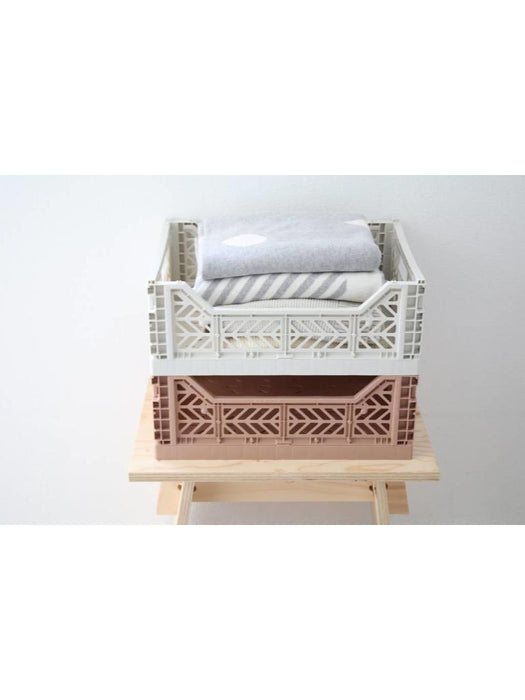 Aykasa folding crates Aykasa Folding Crate MIDI - Warm Taupe - Pearls & Swines