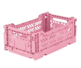 Aykasa folding crates Aykasa Folding Crate MINI - Baby Pink - Pearls & Swines
