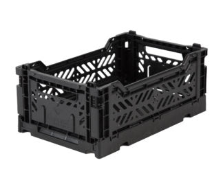 Aykasa folding crates Aykasa Folding Crate MINI - Black - Pearls & Swines