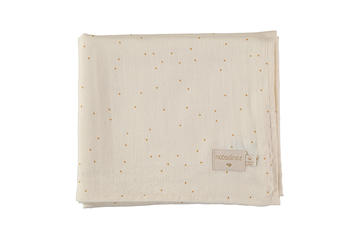Nobodinoz Nobodinoz Butterfly Swaddle - Honey Sweet Dots - Pearls & Swines
