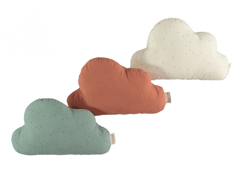 Nobodinoz Nobodinoz Cloud Cushion - Toffee Sweet Dots Eden Green - Pearls & Swines