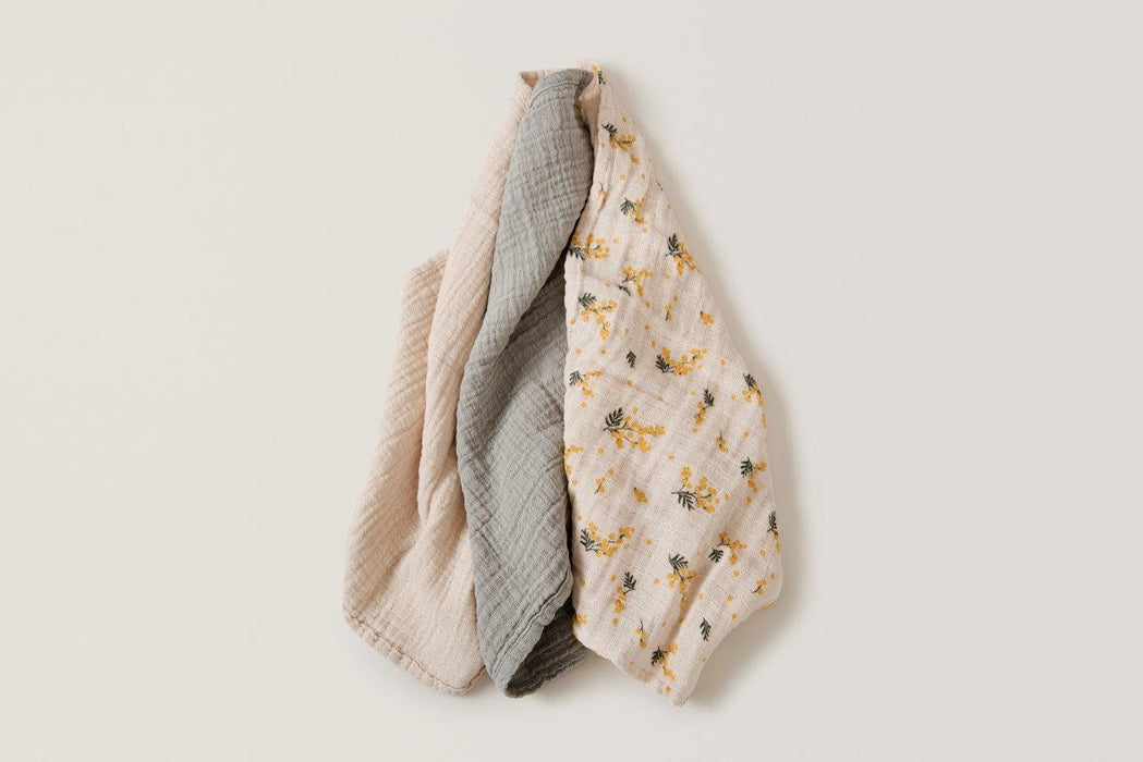 Garbo & Friends Garbo&Friends Mimosa Muslin Burp Cloths - Pearls & Swines
