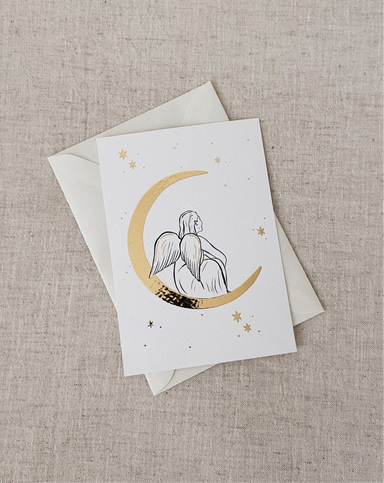 Amber de Vreng Amber de Vreng Christmas Card - Moon Angel - Pearls & Swines