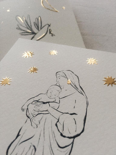 Amber de Vreng Amber de Vreng Christmas Card - Holy Mary - Pearls & Swines