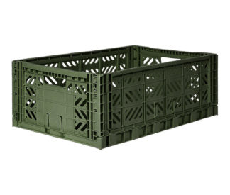 Aykasa folding crates Aykasa Folding Crate MAXI - Khaki - Pearls & Swines