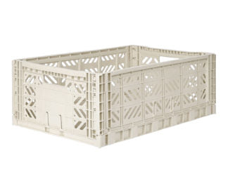 Aykasa folding crates Aykasa Folding Crate MAXI - Light Grey - Pearls & Swines