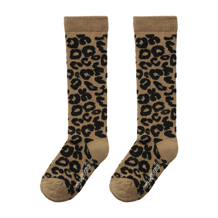 Maed for mini Maed for Mini Brown Leopard Knee Socks - Pearls & Swines