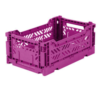 Aykasa folding crates Aykasa Folding Crate MINI - Purple - Pearls & Swines