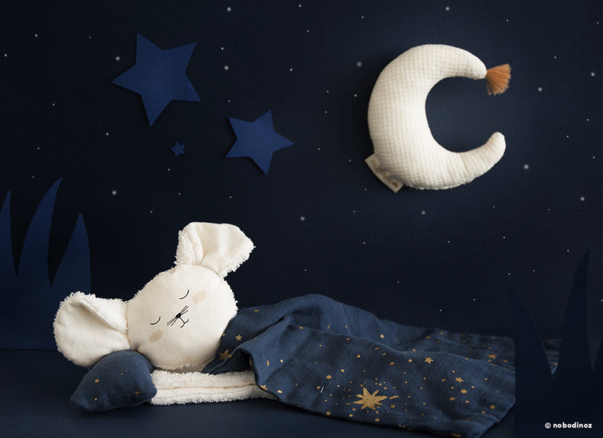 Nobodinoz Nobodinoz Magic Moon Rattle - Pearls & Swines