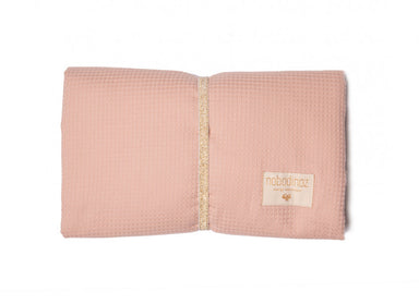 Nobodinoz Nobodinoz Mozart Waterproof Changing Pad - Misty Pink - Pearls & Swines