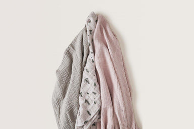 Garbo & Friends Garbo&Friends Thyme Muslin Swaddle Blanket - Pearls & Swines