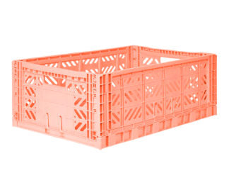 Aykasa folding crates Aykasa Folding Crate MAXI - Salmon Pink - Pearls & Swines