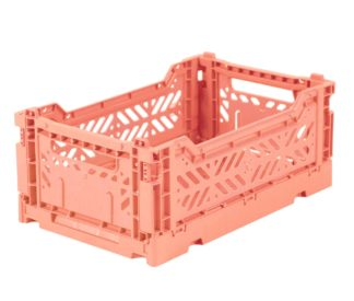 Aykasa folding crates Aykasa Folding Crate MINI - Salmon Pink - Pearls & Swines