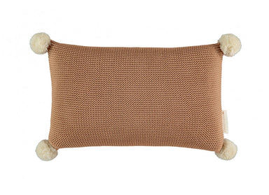 Nobodinoz Nobodinoz So Natural Knitted Cushion • Biscuit - Pearls & Swines