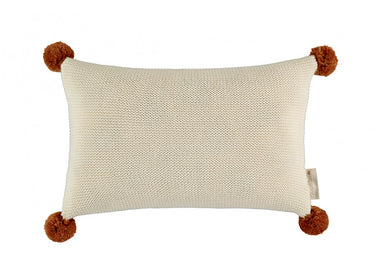 Nobodinoz Nobodinoz So Natural Knitted Cushion - Natural - Pearls & Swines