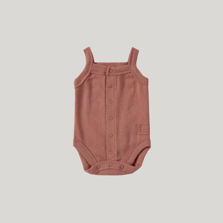 Susukoshi Susukoshi Tank Top Suit Terracotta - Pearls & Swines