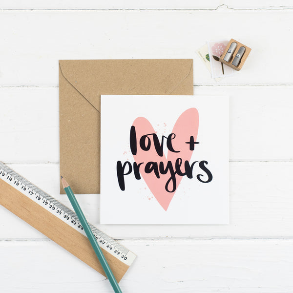 Love and Prayers Card