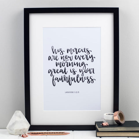 His Mercies are New Every Morning (Lamentations 3) Print