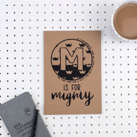 Kraft A5 Lined Christian Journal - M is for Mighty  Zephaniah 3:17