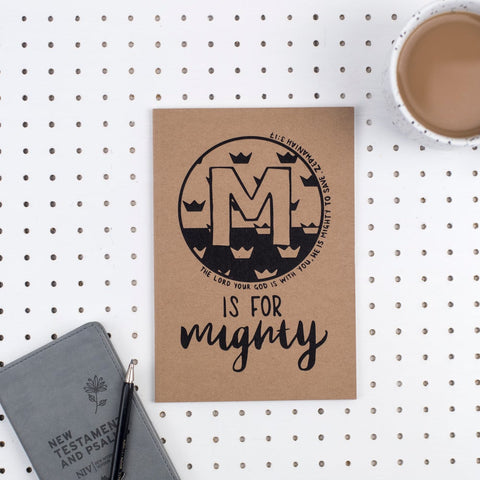 M is for Mighty - A5 Bible Alphabet Journal