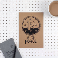 Kraft A5 Lined Christian Journal - P is for Peace John 14:27