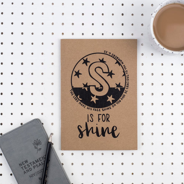 S is for Shine - A5 Bible Alphabet Journal