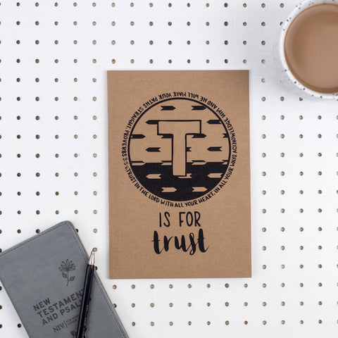 T is for Trust - A5 Bible Alphabet Journal