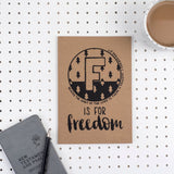 F is for Freedom - A5 Bible Alphabet Journal