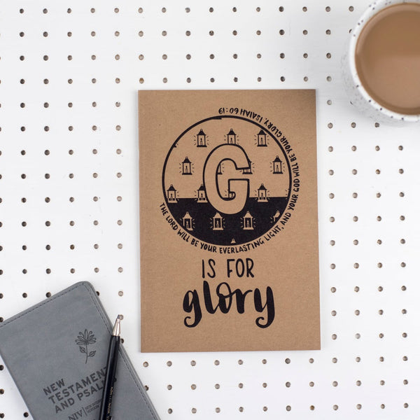 Kraft A5 Lined Christian Journal - G is for Glory Isaiah 60v19