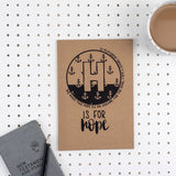 Kraft A5 Lined Christian Journal - H is for Hope Hebrews 6:19