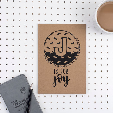 J is for Joy - A5 Bible Alphabet Journal