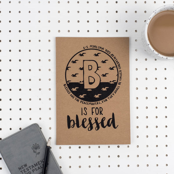 B is for Blessed - A5 Bible Alphabet Journal
