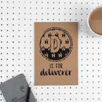 Kraft A5 Lined Christian Journal - D is for Deliverer Psalm 18:2