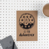 D is for Deliverer - A5 Bible Alphabet Journal