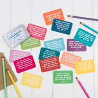 Encouragement in a tin - 15 hand lettered scripture cards