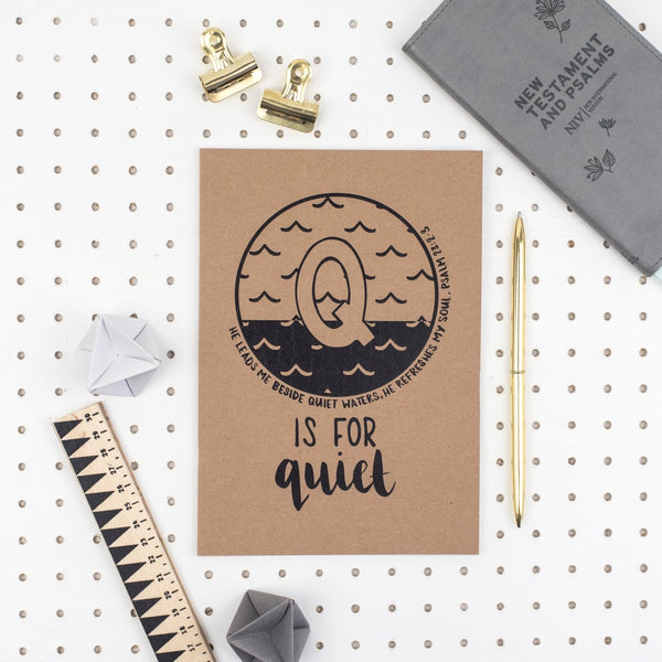 Q is for Quiet - A5 Bible Alphabet Journal