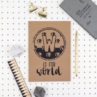 W is for World - A5 Bible Alphabet Journal