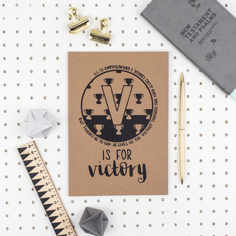 V is for Victory - A5 Bible Alphabet Journal