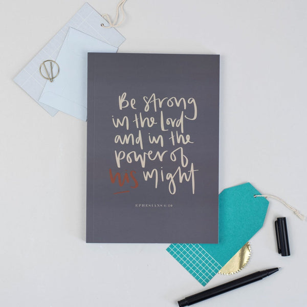 Strong in the Lord A5 Devotional Notebook