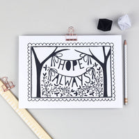 Hope Always Folk Art Print