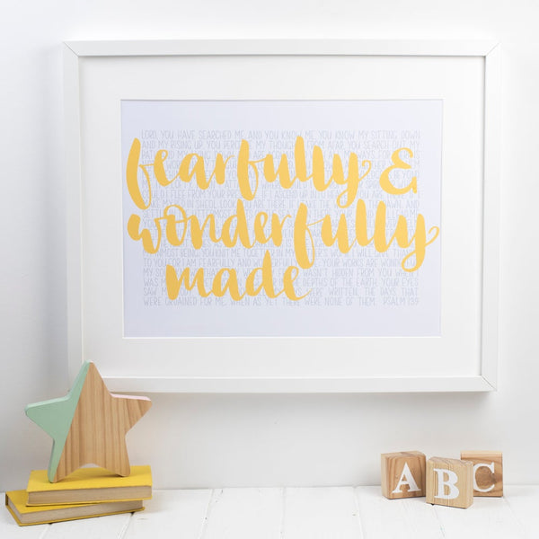 Fearfully and Wonderfully Made (Psalm 139) Print