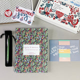 Yes & amen letter writing set, pen, prayer postcard card in polka dot tissue in a Scandinavian gift box with gift tag
