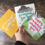 Card options for thinking of you box